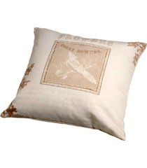almofada personalizada decorativa de tecido flowers ii