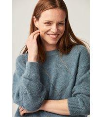 błękitny sweter z mieszanki wełny
