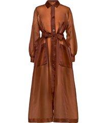 chantara coat 12854 maxi dress galajurk bruin samsøe samsøe