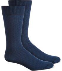 perry ellis men's textured honeycomb socks