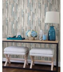 "brewster home fashions barn board thin plank wallpaper - 396"" x 20.5"" x 0.025"""