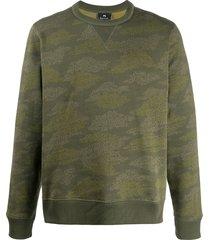 ps paul smith cloud camo print sweatshirt - green