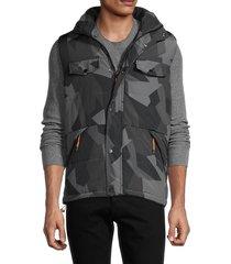 american stitch men's snap-front vest - khaki - size xxl