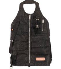 heron preston nylon multi-pocket vest