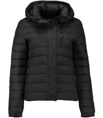 gewatteerde jas classic fuji zwart