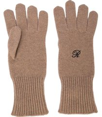 logo knit heroes gloves