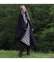 classic charcoal irish wool walking cape