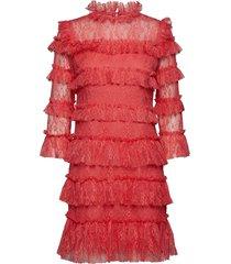 carmine mini dress kort klänning orange by malina