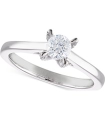 certified diamond solitaire engagement ring (1/2 ct. t.w.) in 14k white gold