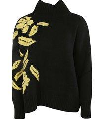 ermanno scervino high neck embroidered sweater