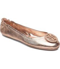 minnie travel ballet with leather logo ballerinaskor ballerinas rosa tory burch