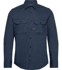 police slim shirt l\s skjorta casual blå g-star raw
