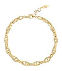 ettika fancy gold plated chain link anklet