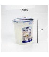 pote porta picles condimentos conservas lockamp;lock - 1400ml