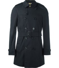 burberry the chelsea - mid-lenght trench coat - blue