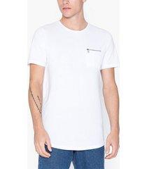 premium by jack & jones jprsmart zip bla. tee ss crew neck t-shirts & linnen vit