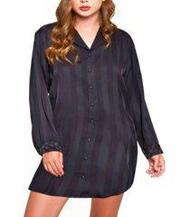 women's plus size notch collar oversized night shirt