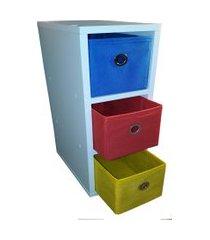gaveteiro  organibox colorido