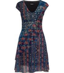 vest merry dresses party dresses blauw desigual