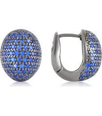 azhar designer earrings, blue cubic zirconia earrings