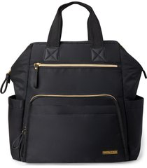 skip hop mainframe wide open diaper backpack - black