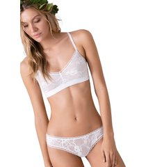 brasier top sin copa en encaje y puntilla ref 1439o92l off white options intimate
