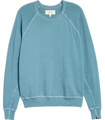 women's the great. the college french terry sweatshirt, size 2 (fits like 8-10 us) - blue