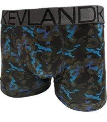 cueca boxer kevland camuflado blue azul