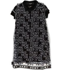 logo mesh dress with detachable lining set