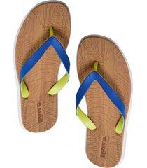 sandalia hawaiana engomada azul baziano
