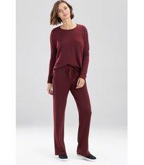 natori cocoon long sleeve top pajamas, women's, red, size xs natori