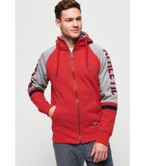 superdry men's applique raglan hoodie