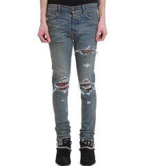 amiri mx1 jean jeans in blue denim