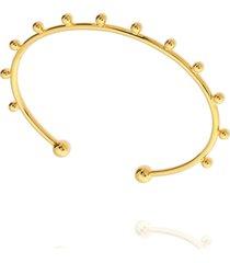 pulseira dona diva semi joias bracelete dourado