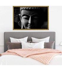 quadro com moldura buddha em cinza dourado - grande - tricae