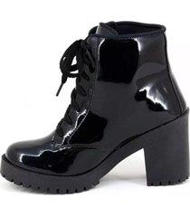 bota coturno clube do sapato de franca buenos aires verniz preto