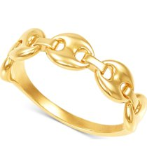 mariner chain link statement ring in 10k gold