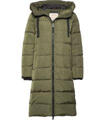 nova down coat gevoerde lange jas groen mos mosh