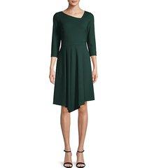 asymmetrical three-quarter sleeve dress