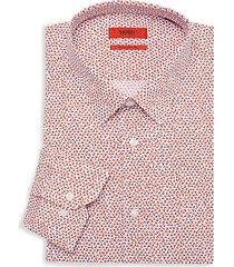 extra slim-fit geometric dress shirt
