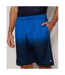 bermuda masculina esportiva ace com degradê e bolsos azul