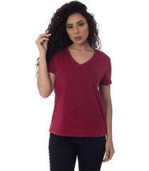t-shirts daniela cristina gola v lavada 10272 26 roxo - roxo - p - feminino