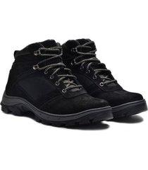 sapato coturno boot em couro nobuck masculino adventure