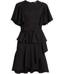 flutter-sleeve flounce dress