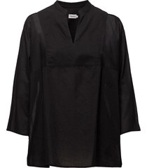 light pleat blouse blouse lange mouwen zwart filippa k