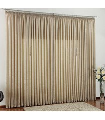 cortina 2 metros amore cáqui liso com 1 peças - valle enxovais