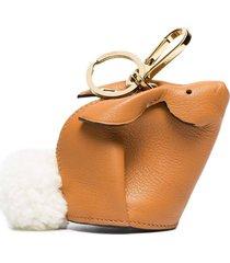 bunny bag charm camel