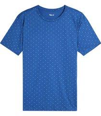 camiseta para hombre mini print rombos color azul, talla m