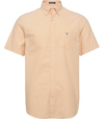 reg oxford shirt ss bd kortärmad skjorta orange gant