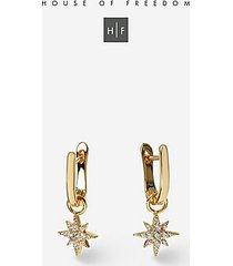 *star clicker hoop earrings - clear